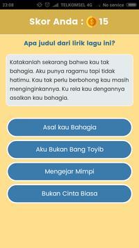Game Tebak Lagu - Sekilas Lyric screenshot 4