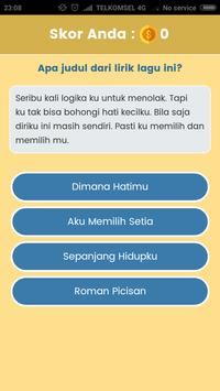 Game Tebak Lagu - Sekilas Lyric screenshot 1