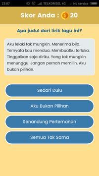Game Tebak Lagu - Sekilas Lyric screenshot 2