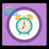 wake up sunrise alarm clock icon