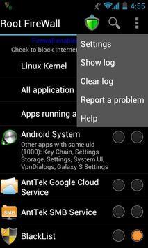 Root Firewall screenshot 1