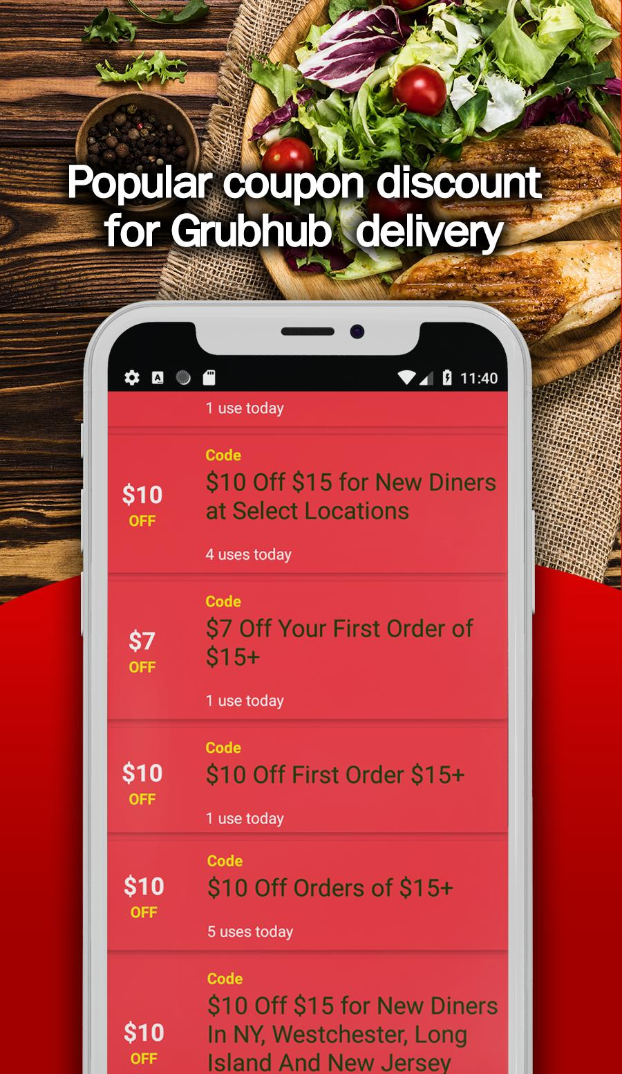 Free Grubhub Coupon Code And Promo For Android Apk Download