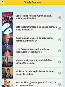 Stiri si Romania apk screenshot