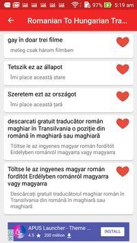 Romanian Hungarian Translator apk screenshot