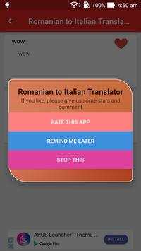 Romanian Italian Translator apk screenshot