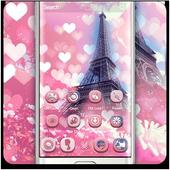 Romantic Pink Paris Theme icon