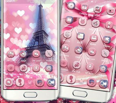 Romantic Pink Paris Theme poster