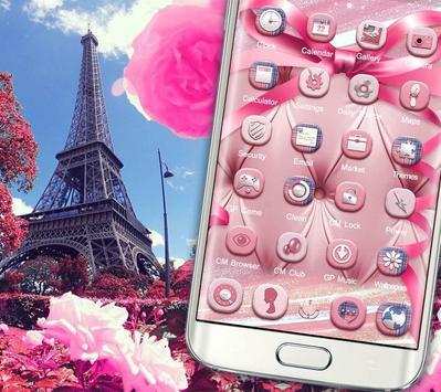 Romantic Pink Paris Theme screenshot 1