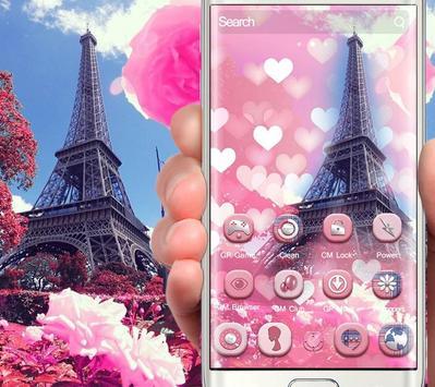 Romantic Pink Paris Theme screenshot 2