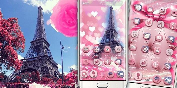 Romantic Pink Paris Theme screenshot 3