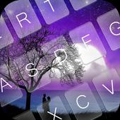 Romantic Night Emoji Keyboard icon