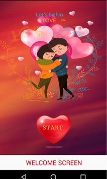 Romantic love Stickers poster