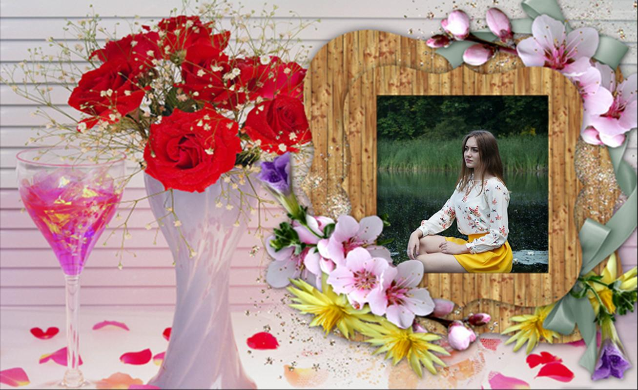 Romantic Flower Photo Frames APK Download - Free Personalization APP ...