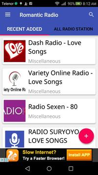 Romantic Radio apk screenshot