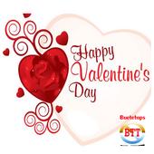 romantic valentines day cards icon