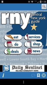 rny central new york guide poster