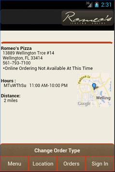 Romeo's Itailan Cuisine apk screenshot
