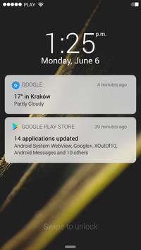 IOS11 style Lock Screen screenshot 1