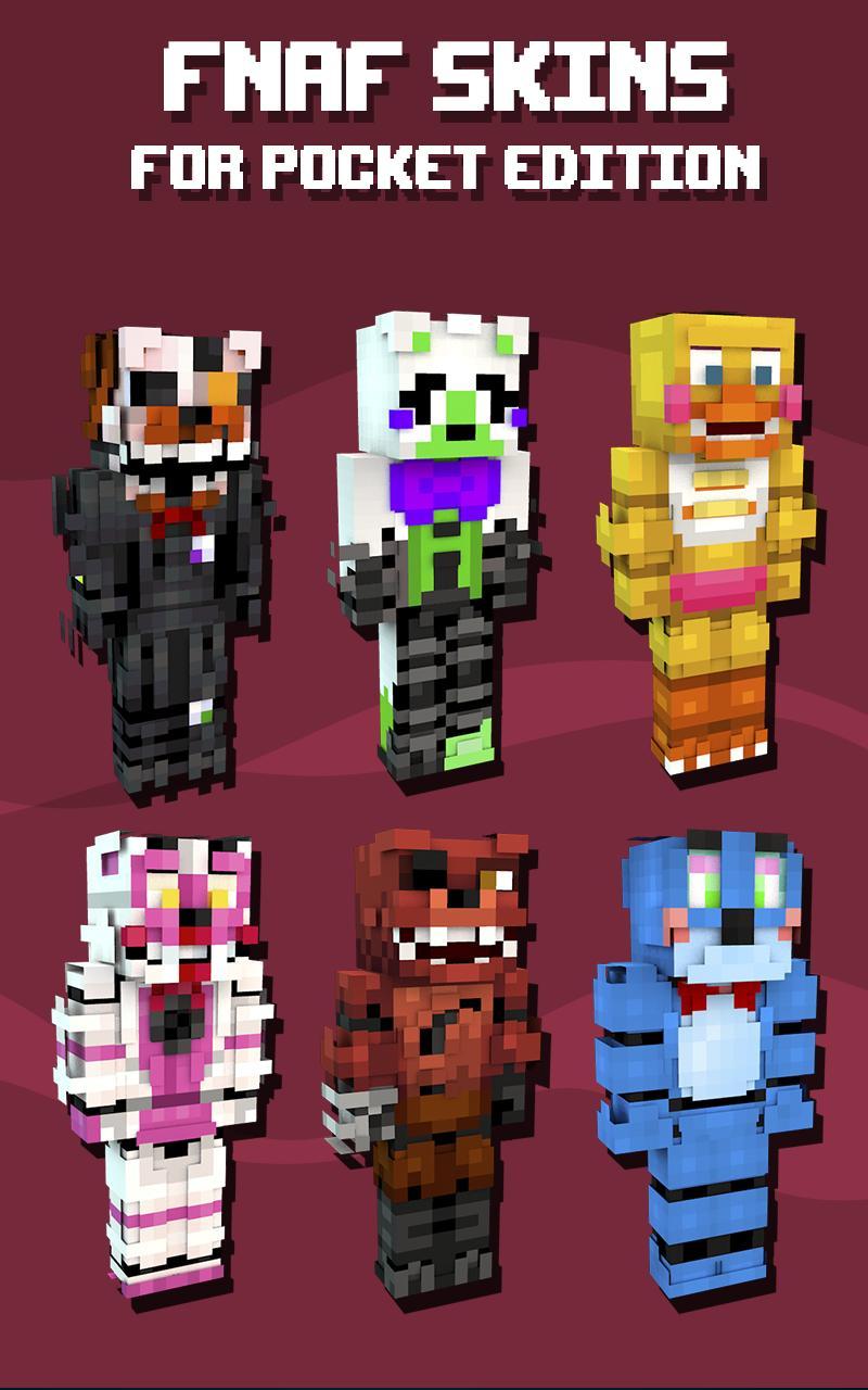 Skins FNAF for Minecraft para Android - APK Baixar