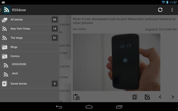RSSdose Reader (RSS Reader) apk screenshot