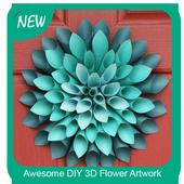 Awesome DIY 3D Flower Artwork icon