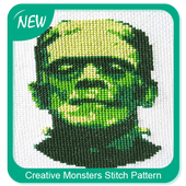 Creative Monsters Stitch Pattern icon