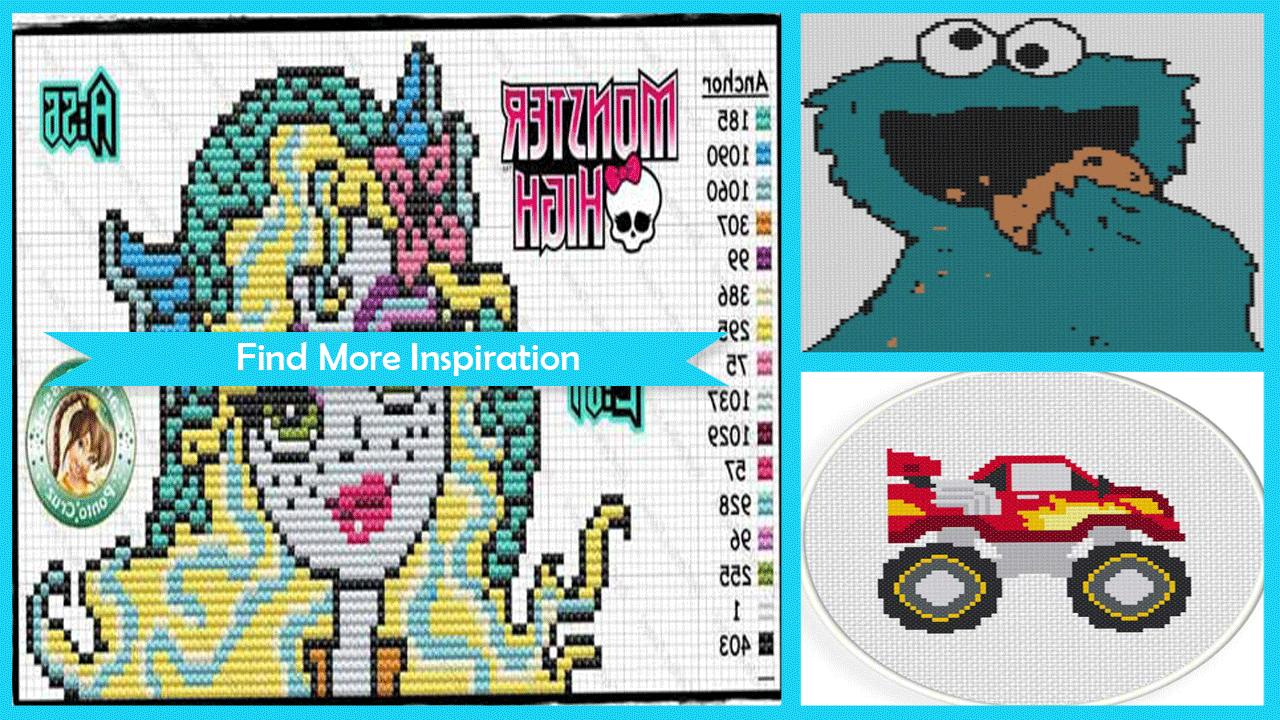 Creative Monsters Stitch Pattern poster