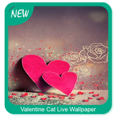 Valentine Cat Live Wallpaper icon