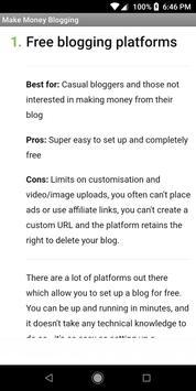 Make Money From Blogging screenshot 2