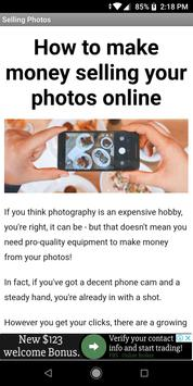 Make Money Selling Your Photos poster
