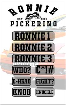 Ronnie Pickering poster