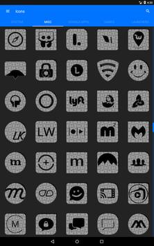 White Puzzle Icon Pack screenshot 11