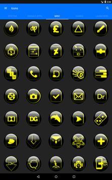 Yellow Glass Orb Icon Pack v2.2 apk screenshot