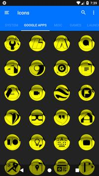 Yellow Icon Pack Style 1 v3.0 Free screenshot 5