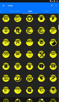 Yellow Icon Pack Style 1 v3.0 Free screenshot 21