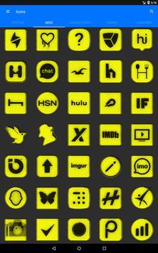 Yellow Noise Icon Pack screenshot 12