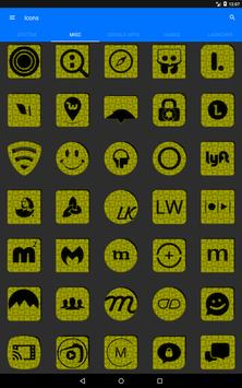 Yellow Puzzle Icon Pack screenshot 13