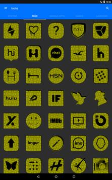 Yellow Puzzle Icon Pack screenshot 11