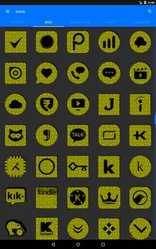 Yellow Puzzle Icon Pack screenshot 12