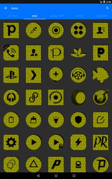 Yellow Puzzle Icon Pack screenshot 15