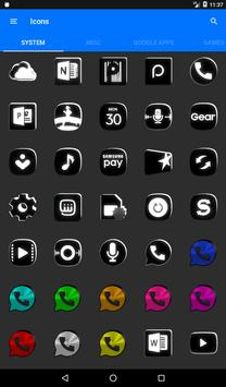 Black and White Icon Pack v4.0 Free screenshot 19