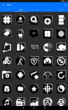 Black and White Icon Pack v4.0 Free screenshot 13