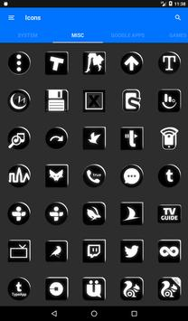 Black and White Icon Pack v4.0 Free screenshot 23