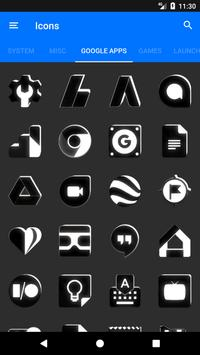 Black and White Icon Pack v4.0 Free screenshot 4
