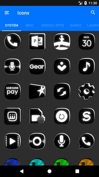 Black and White Icon Pack v4.0 Free screenshot 7