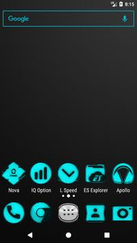 Cyan Noise Icon Pack poster