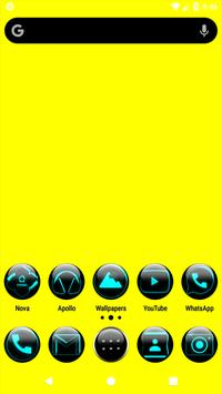 Cyan Glass Orb Icon Pack v4.1 Free poster