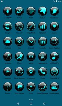 Cyan Glass Orb Icon Pack v2.2 apk screenshot