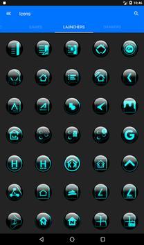 Cyan Glass Orb Icon Pack v4.1 Free apk screenshot