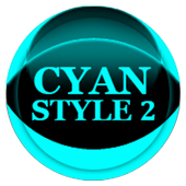 Cyan Icon Pack Style 2 icon